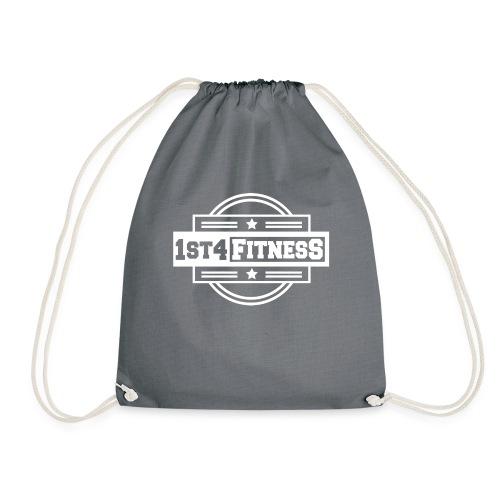 1st4Fitness White Back & Front - Drawstring Bag