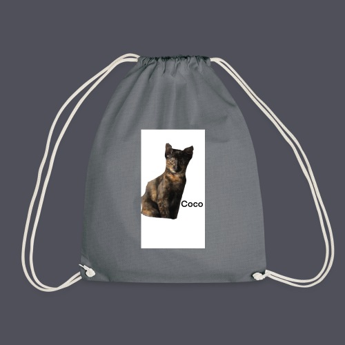 Coco the Kitten and inspirational quote Combined - Drawstring Bag