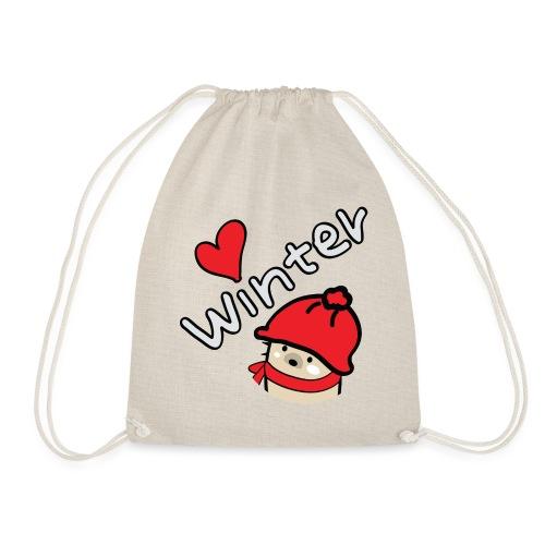 Mochie love winter s - Drawstring Bag