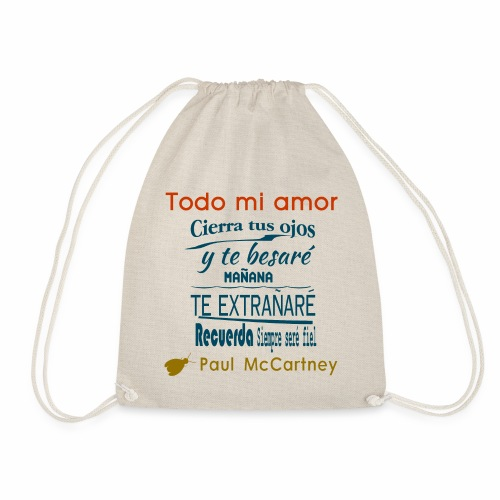 All my loving español 1 - Mochila saco