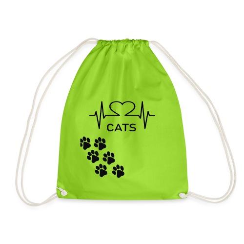 Design für Katzenbesitzer. - Turnbeutel