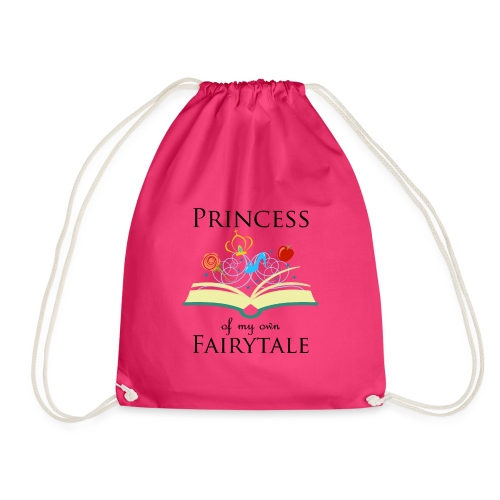 Princess of my own fairytale - Black - Drawstring Bag