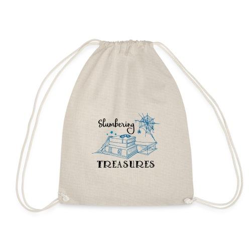 Slumbering Treasures - Black - Drawstring Bag
