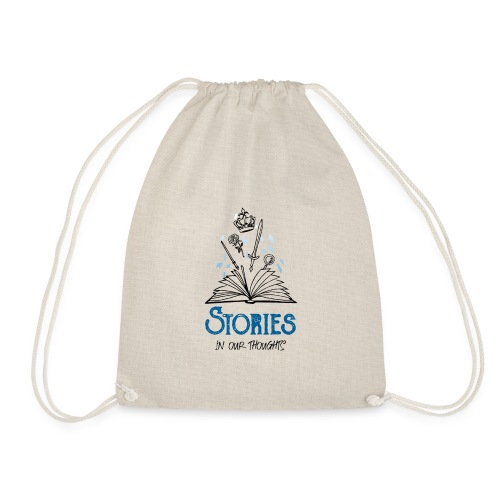 Stories In Our Thoughts - Black - Drawstring Bag