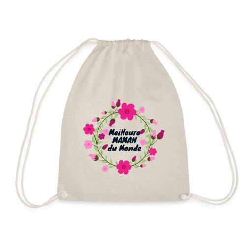 Meilleure maman du monde, fête des mères, fleurs - Sac de sport léger