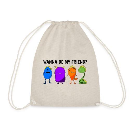 Wanna be my friend? - Mochila saco
