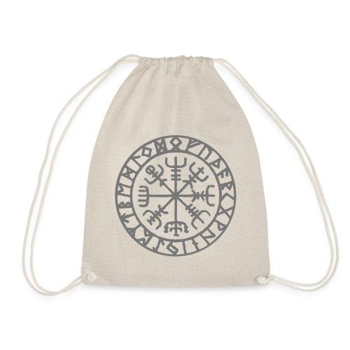 vegvisir Wegweiser Kompass Island Schutzsymbol - Turnbeutel