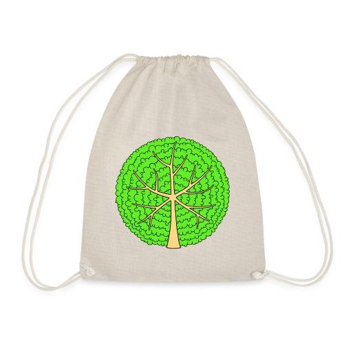 Baum, rund, hellgrün - Turnbeutel