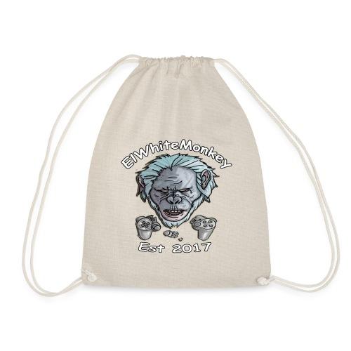 ElWhiteMonkey Logo - Drawstring Bag