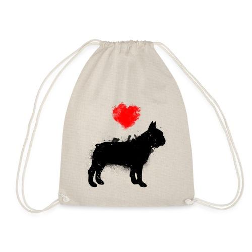 Französische Bulldogge Wunschname - Turnbeutel