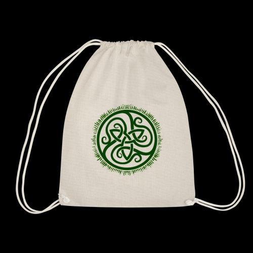 Green Celtic Triknot - Drawstring Bag
