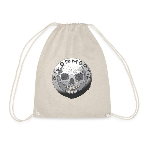 Rigormortiz Black and White Design - Drawstring Bag