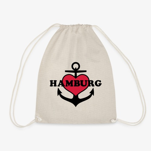 Anker Herz Hamburg Maritimes Motiv - Turnbeutel
