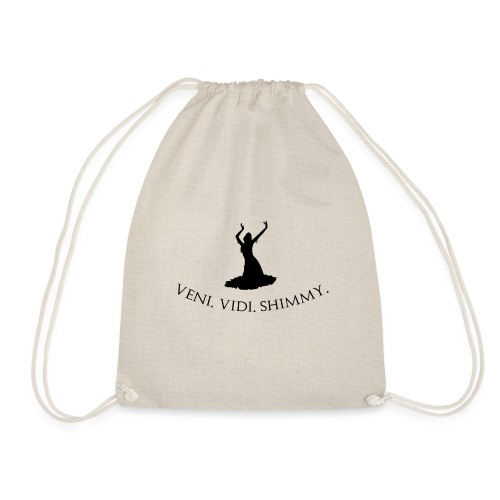 Veni Vidi Shimmy Black - Drawstring Bag