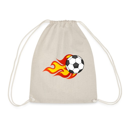 Flaming Football - Drawstring Bag