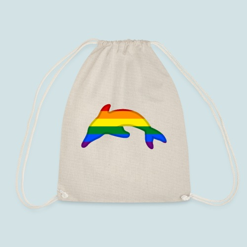 Gay / Rainbow Dolphin - Drawstring Bag