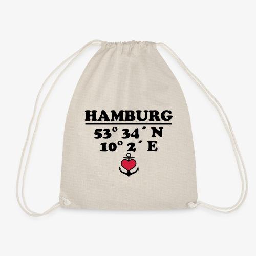 HAMBURG Koordinaten Anker 2c A / Längengrad - Turnbeutel