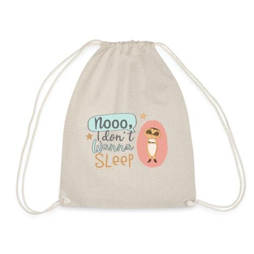 Kleines freches Erdmännchen will nicht schlafen - Turnbeutel
