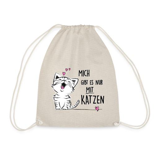 Vorschau: Mich gibts nur mit Katzen - Turnbeutel