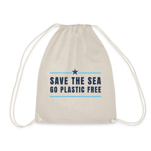 Defend the sea go plastic free Umweltschutz - Turnbeutel