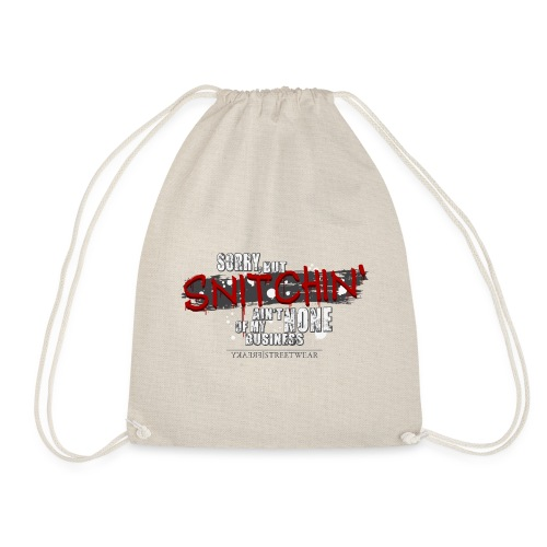 no snitching - Turnbeutel