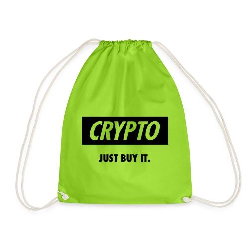 Crypto - Just buy it | Black - Drawstring Bag