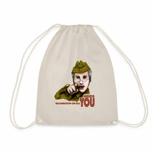 Walmington on Sea by Jon Ball - Drawstring Bag
