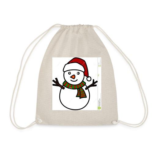 Snowman Christmas design - Drawstring Bag