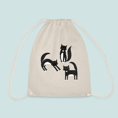Black and White Tuxedo Cats - Drawstring Bag