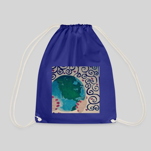 Earth in our hands - Drawstring Bag