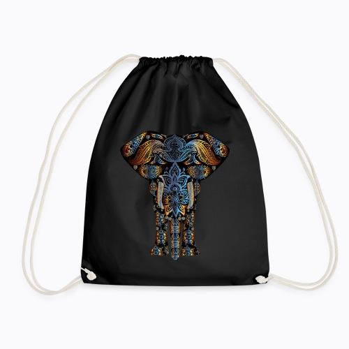 decorative elephant - Drawstring Bag