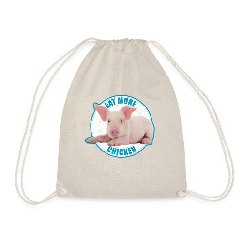 Eat more chicken - Sweet piglet - Drawstring Bag