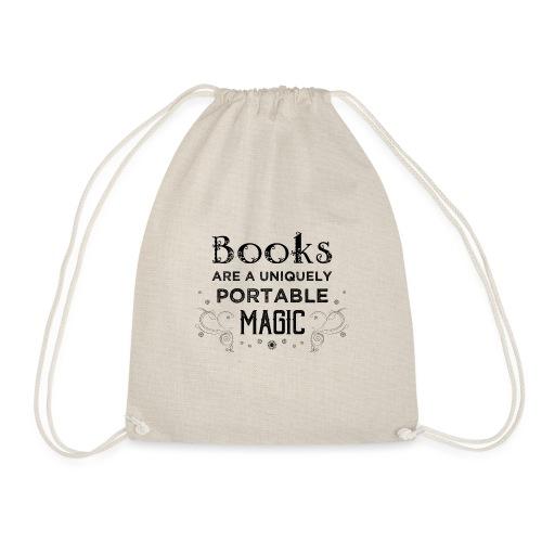 0027 book lover | Magic | Reading | Reader | book - Drawstring Bag
