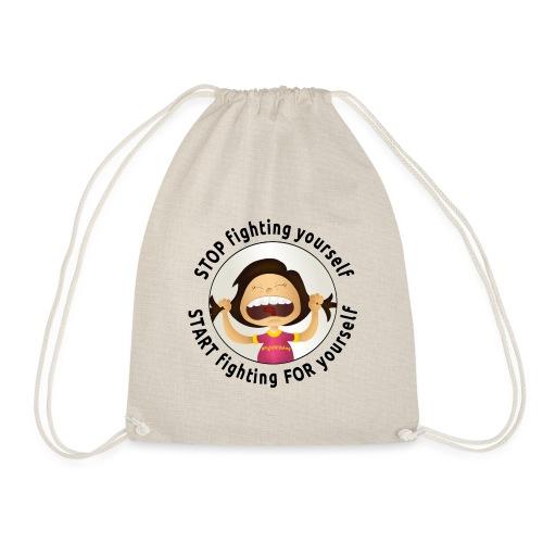 Amy's motto (black txt) - Drawstring Bag