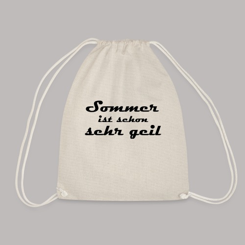 summer is very cool - Drawstring Bag