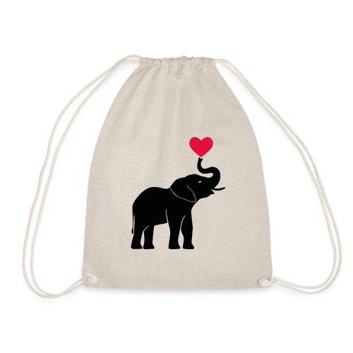 Love Elephants - Drawstring Bag