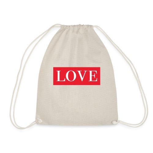 Red LOVE - Drawstring Bag