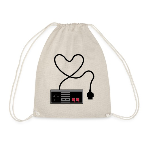 NES Controller Heart - Drawstring Bag