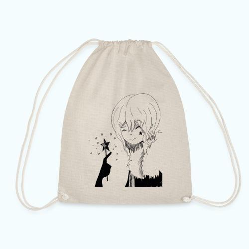MANGA STAR real drawing - Drawstring Bag