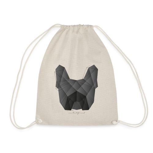 Geometric Frenchie black - Französische Bulldogge - Turnbeutel