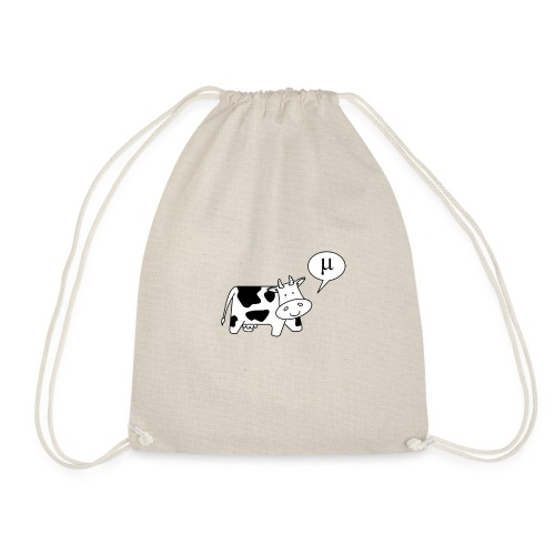 The Cow says Mu - Drawstring Bag