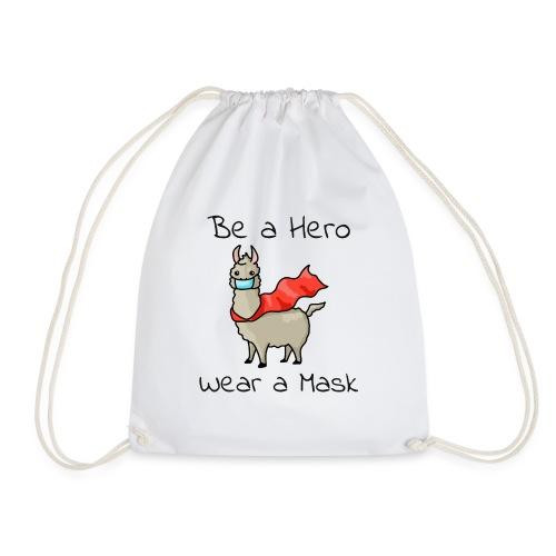 Sei ein Held, trag eine Maske! - Turnbeutel