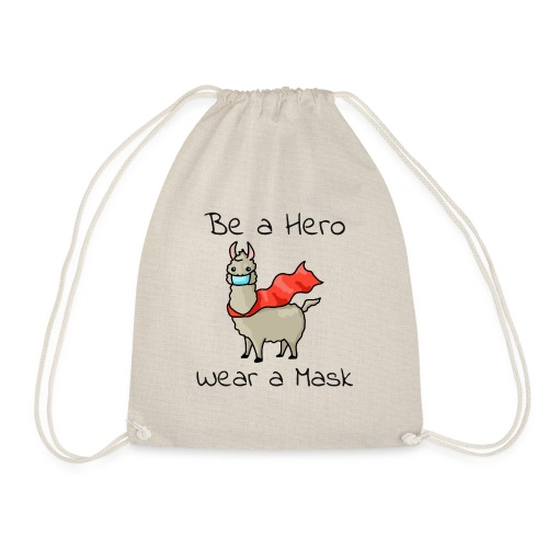 Sei ein Held, trag eine Maske - fight COVID-19 - Turnbeutel