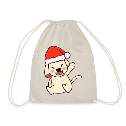 Baby Hund Weihnachten Santa Geschenk idee - Turnbeutel