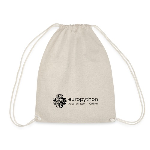 EuroPython 2020 - Black Logo - Drawstring Bag