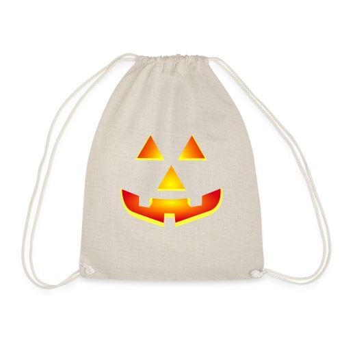 Smiling pumpkin - T Shirt, Halloween, Scary Face - Drawstring Bag