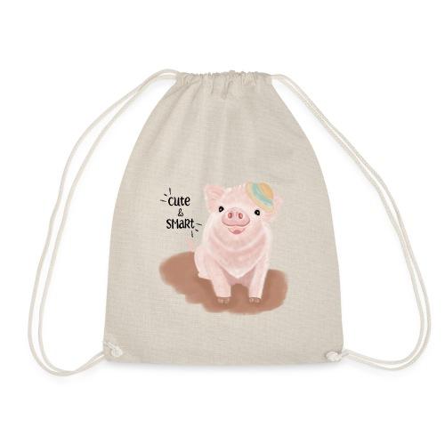 Cute & Smart Pig - Drawstring Bag