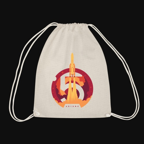 Ariane 5 - Lift off By Fugstrator - Drawstring Bag