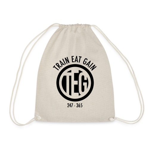 Train Eat Gain Circle - Drawstring Bag