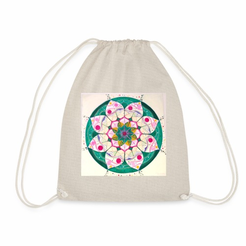 mandala rosa - Mochila saco